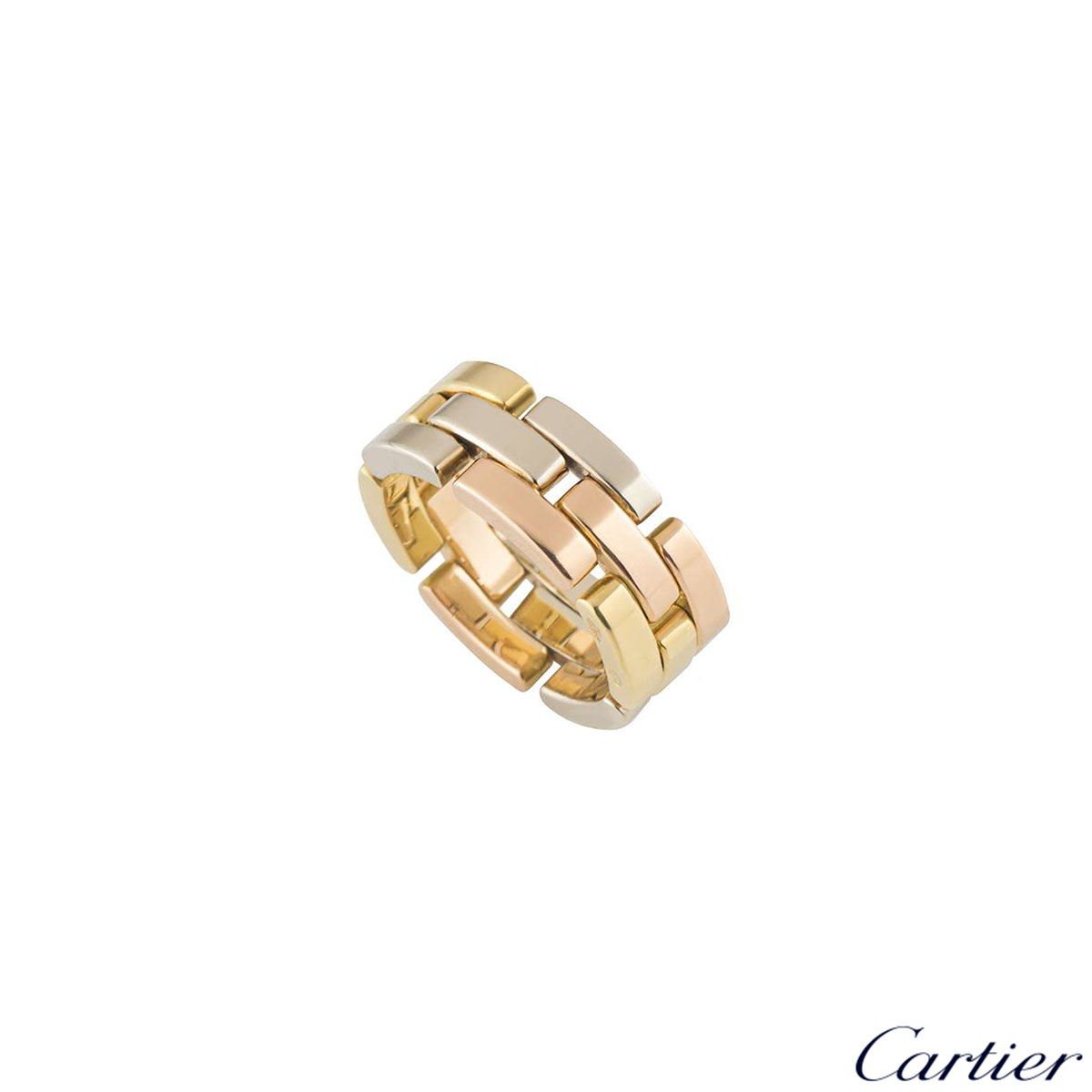 Cartier Tri-Colour Maillon Panthere Ring